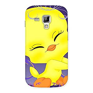 Yellow Tweet Back Case Cover for Galaxy S Duos