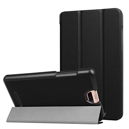 Acer Iconia Talk S (A1-734) Hülle Case,Ti-Fold Ultra Dünn Fold Smart-Muschel PU Leder Ultra Schlank Superleicht Ständer Smart Shell Cover Schutzhülle Etui Tasche für Acer Iconia Talk S (A1-734) (Schwarz)