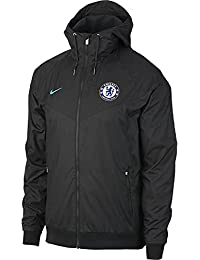 5df71cddf993 2017-2018 Chelsea Nike Authentic Windrunner Jacket (Anthracite)