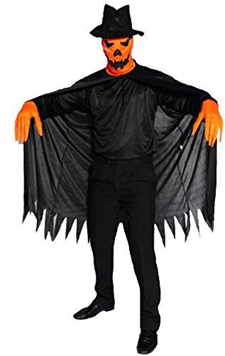 Honeystore Unisex Scream Mask Ghostface Pumpkin Fun Scary Halloween Prop Costume