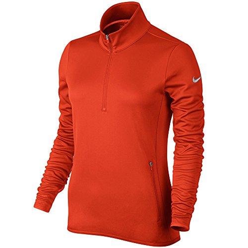 Nike Therma Haut à manches longues demi-zippé pour femme Arancione/grigio