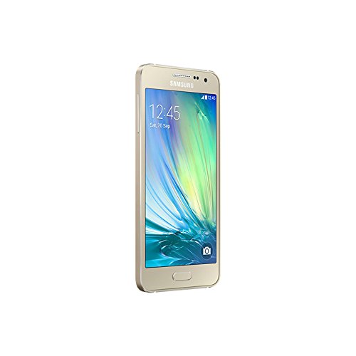 Samsung Galaxy A3 - Smartphone libre Android  pantalla 4 5   c  mara 8 Mp  16 GB  Quad-Core 1 2 GHz  1 GB RAM   dorado  importado