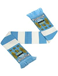 Manchester City F.C. Bar Scarf. A perfect product/gift to show support for the team you love. Also availible in other clubs.
