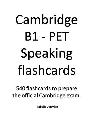 Cambridge B1 - PET Speaking flashcards