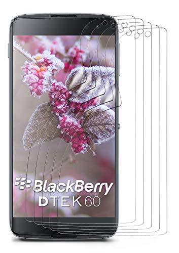 moex 5X BlackBerry DTEK60   Schutzfolie Klar Display Schutz [Crystal-Clear] Screen Protector Bildschirm Handy-Folie Dünn Displayschutz-Folie für BlackBerry DTEK60 Displayfolie