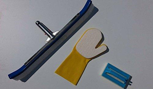 kit-pulizia-piscine-con-spazzola-premium-quality-deluxe-60-cm-manico-alluminio-guanto-giallo-con-spu