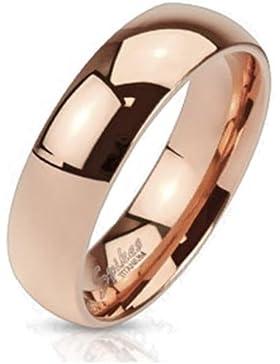 Coolbodyart Unisex klassischer Titan Ring rosè gold poliert