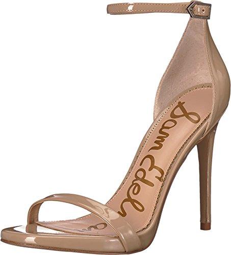 Sam Edelman Women's Ariella Strappy Sandal Heel Nude Patent 12 M US M Heel Strappy Sandal