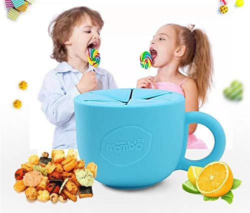 Die dicht MIT Deckel snacks Cup snacks Catcher Baby Doppel MIT snacks geschirr für Kinder - band Tank MIT rosa, grün, Blau, Orange - Doppel-tank Bands