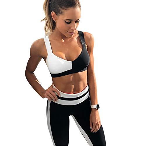CYJJJK Yogahosen eingestellt Yoga Anzüge Frauen Kleidung Fitness Lauftrainingsanzug Sport BH Sport Leggings Yoga Shorts Top 2 Stück Set Yogahosen für Damen (Fitness-kleidung Für Frauen)