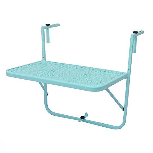CTGAB laptoptisch- Balkon-hängender Tabellen-Schmiedeeisen, Das einfaches Mini lernt Kleine Tabelle...