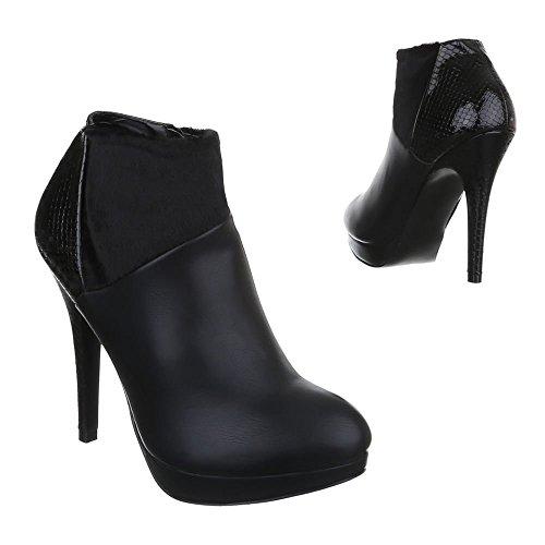 Ital-Design , Bottines femme Noir