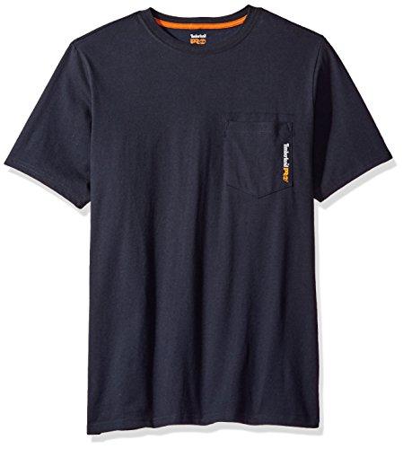 Timberland PRO Men's Base Plate Blended Short-Sleeve T-Shirt, Dark Navy, M -