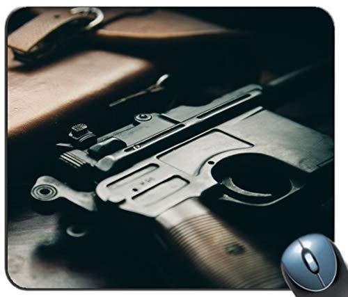 C96 Pistole Hintergrund Mauspad, Gaming Mauspad Rutschfeste Gummibasis, personalisierte Mauspad für Computer & Laptop -