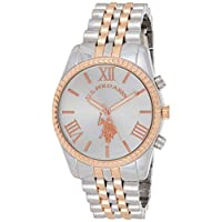 U.S. Polo Assn. Womens Quartz Watch, Analog Display and Stainless Steel Strap USC40056