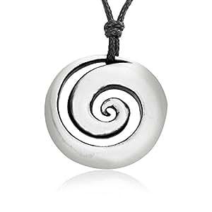 Joaillier Llords | Coquillage en spirale, Collier à pendentif, fermoir plaqué argent, bijou en pur étain