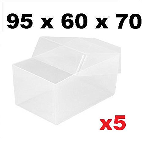 5 scatole trasparenti in plastica Per biglietti da visita, 95 x 60 ...