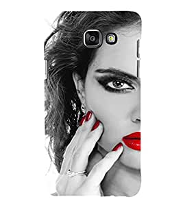 EPICCASE Lady with cool nailpaint Mobile Back Case Cover For Samsung Galaxy A5 (Designer Case)