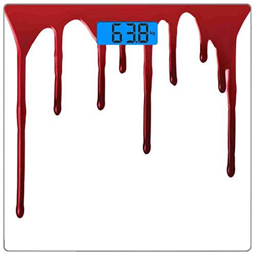 Precision Digital Körpergewicht Waage Horror Ultra Slim Gehärtetes Glas Personenwaage Genaue Gewichtsmessungen, fließendes Blut Horror Spooky Halloween Zombie Scary Helfen Sie mir Satz Motto Illustrat