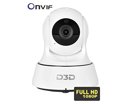 D3D Wireless Full HD (1920x1080)p 2.0 MegaPixel IP Wifi CCTV [Watch ONLINE DEMO right now] indoor Security Camera (support upto 128 GB SD card) (white Color) Model:D6022Y