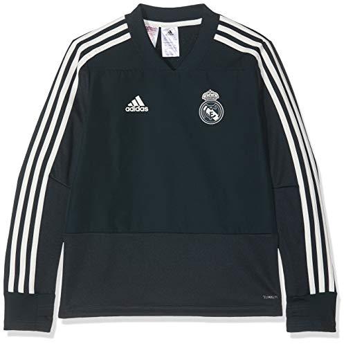 adidas Kinder Real Training Langarm Sweatshirt, Tech Onix/Black/Core White, 140 -