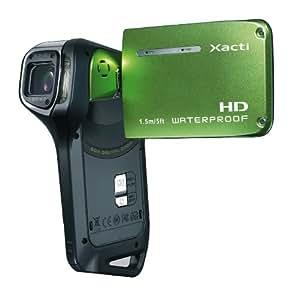 Sanyo VPC-CA9EG HD Waterproof Dual Video & Photo Camera - Green