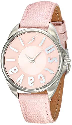 Just Cavalli Damen Analog Quarz Uhr mit Leder Armband JC1L008L0035