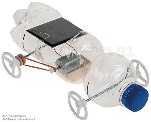 matches21 Solar Auto Fahrzeug Recycling Bausatz Recyclingcar Werkset Bastelset mit Riemenantrieb für Kinder ab 10 Jahren