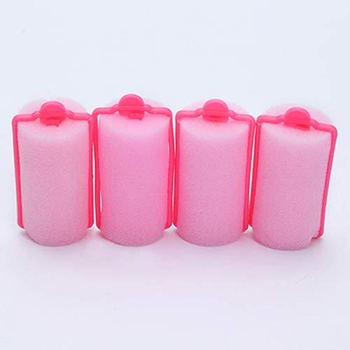 Kangql 12 Pz/Tasche Magic Sponge Foam Cushion Hair Styling Rollers Lockenwickler Twist Tool mehrfarbig - Große Extra Haar Rollen