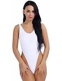 YiZYiF Damen Body Sportbody High Cut Rückenfrei Dessous Bodysuit Thong  Leotard Bikini Badeanzug S M L XL 2XL d196275d16