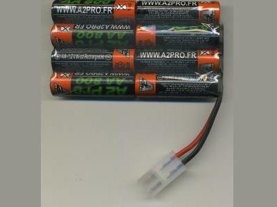 A2Pro accessoires modélisme - Accu 9.6V 2500mah Nikko plat