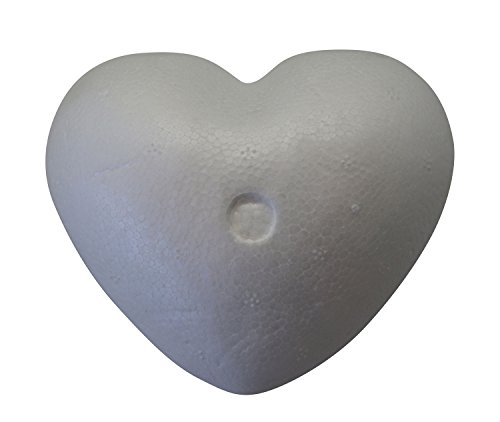 Glorex 6 3803 731 Styroporherz, weiß, ca. 9 cm, 1 Stück