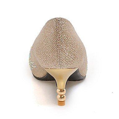LFNLYX Frauen Fersen Frühling Sommer Herbst Winter Club Schuhe Kundenspezifische Materialien Hochzeitsfest & Abendkleid Kätzchen Ferse funkelnden Glitzer Silver