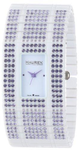 Haurex Italy WX368DWL - Reloj analógico de cuarzo para mujer con correa de plástico, color blanco