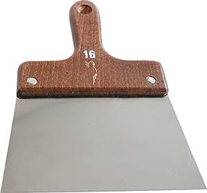 Outibat - Couteau à enduire inox - manche bois 8 cm