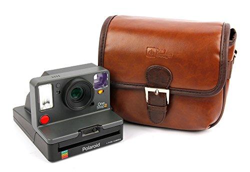 Duragadget borsa vintage per fotocamera polaroid onestep 2 - con tracolla regolabile - alta qualità