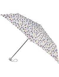 Totes Supermini Ladies Folding Umbrella - Pastel Multi Dots Print