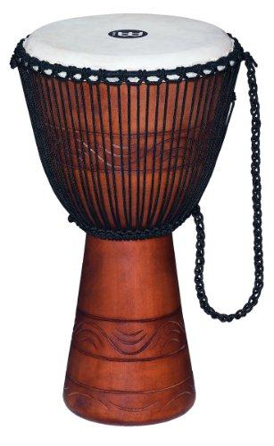 Meinl Percussion ADJ2-L+BAG Djembe, Water Rhythm Series (Large), 30,48 cm (12 Zoll) Durchmesser, inkl. Tasche, braun