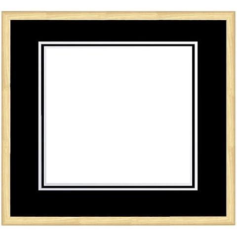 framecraft bagno Ltd apertura quadrata doppio montaggio telaio e frassino Dart RM, 500mm, colore: nero