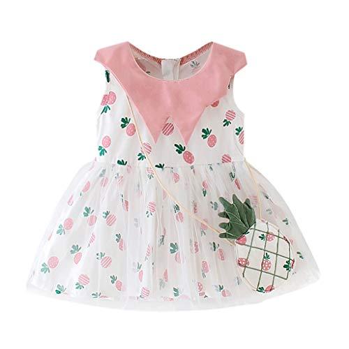 Mädchen Kleider Festlich, Weant Baby Kleidung Mädchen Outfits Ananas drucken Mesh Röcke Sets Prinzessin Kleider FüR Kinder Mädchen Kleidung Partykleid Chiffon Kleid Baby Tägliche Kleidung Pullover -