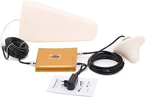 Yuanj Répétiteur Amplificateur Ampli Booster de Signal GSM UTMS 3G pour le Orange Bouygues SFR Free Mobile Portable téléphone mobile avec écran de LCD