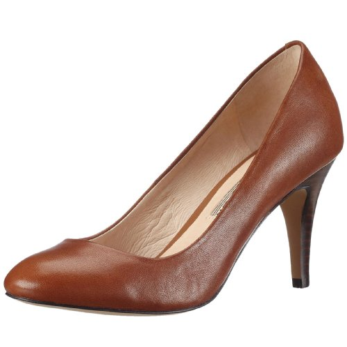 Buffalo London 109-5046 BABY BILL LEATHER 108869 Damen Pumps, Braun (COGNAC 01), EU 41