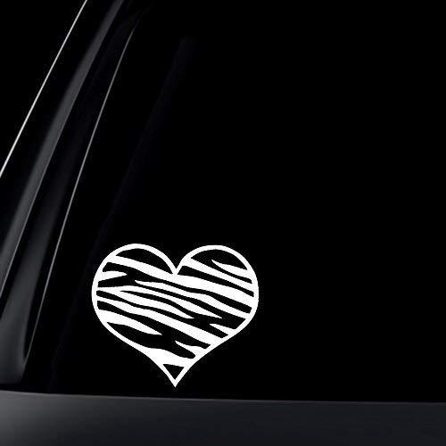 Zebra Print Herz Auto Sticker/Aufkleber von World Design (Aufkleber Zebra-auto)
