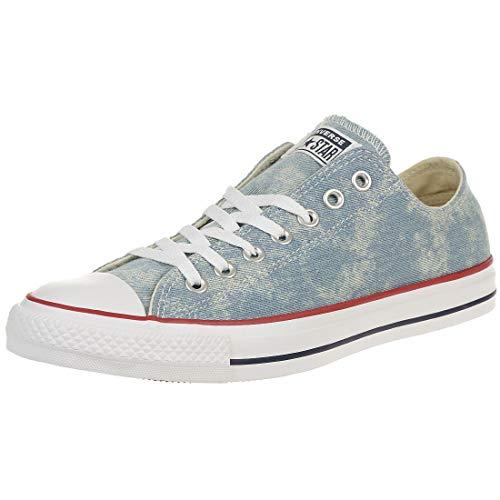 Converse CTAS OX Chuck Schuhe Textil Sneaker Denim Blau 163959C, Schuhgröße:41 EU