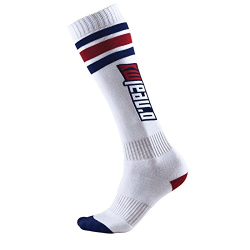 O'Neal Pro MX Socken TUBE Weiß Blau Rot Moto Cross Mountain Bike Enduro one Size, 0356R-210 (Bike Sitze Weiß)