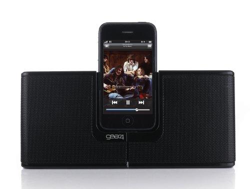 Gear 4 StreetParty Revolve Enceinte Portable Station d'accueil pour iPhone 3G, 3GS, 4, 4S, iPod Nano 5 and iPod Touch 4 - Noir - Livrée avec Prise Française et Anglais
