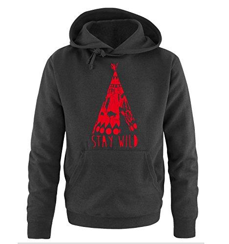 Comedy Shirts -  Felpa con cappuccio  - Maniche lunghe  - Uomo Black / Red