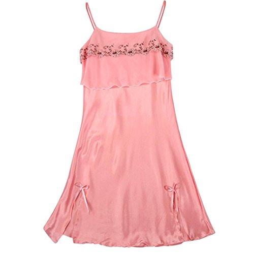 Damen Sexy Teddy Babydoll Dessous Mingfa Spitze Verlockung Unterwäsche Nachtwäsche Nachtwäsche L hot pink