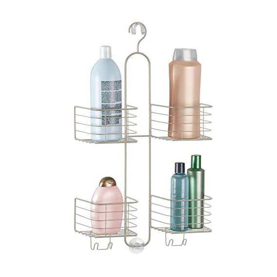 InterDesign Metalo Hose Steel and PVC Shower Caddy, Satin