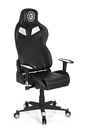 hjh OFFICE 734100 silla gaming GAMEBREAKER VR 12 piel sintética negro silla racing oficina